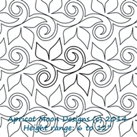 Digital Quilting Design Always Ivy by Apricot Moon.