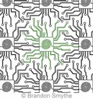 Digital Quilting Design Brandon's Circuit Board by Brandon Smythe.