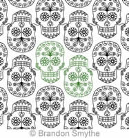 Digital Quilting Design Sugar Skull Panto by Brandon Smythe.