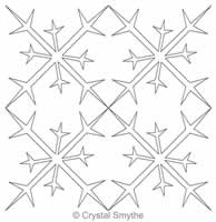 Digital Quilting Design Frosty Beauty Snowflake Block by Crystal Smythe.