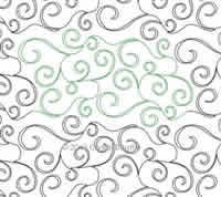 Digital Quilting Design Whirl Wind Curls by Crystal Smythe.