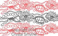 Digital Quilting Design Lily Pond by Crystal Smythe.