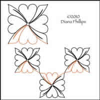 Digital Quilting Design Heart Blossom by Diana Phillips.