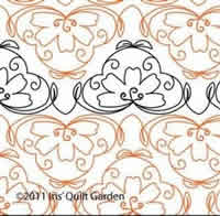 Digital Quilting Design Lilypad Panto by Iris QuiltGarden.