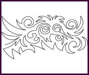 Digital Quilting Design Tribal Tattoo by JoAnn Hoffman.