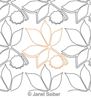 Digitized Longarm Quilting Design Buckeye Leaf Border or Panto was designed by Janet Seiber.