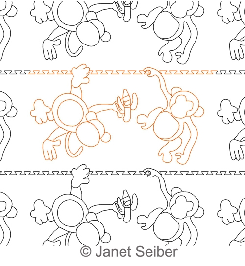 Monkeys Border Or Panto Janet Seiber Computerized Quilting Designs