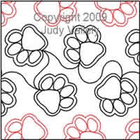 Digital Quilting Design Paw Prints by Judy Vallely.