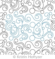 Digital Quilting Design Pearl Swirl Pantograph by Kristin Hoftyzer.