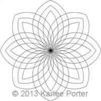 Digital Quilting Design 8-Sided Medallion 5 by Karlee Porter.