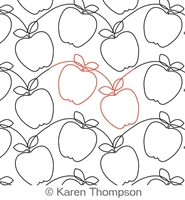 Digital Quilting Design Simple Apple Panto by Karen Thompson.