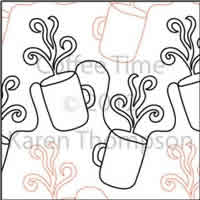 Digital Quilting Design Coffee-Time by Karen Thompson.