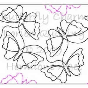 Butterfly Charm Lorien Quilting Digitized Quilting Designs