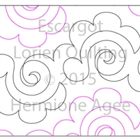 Digital Quilting Design Escargot by Lorien Quilting.