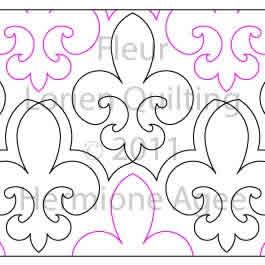Fleur Lorien Quilting Digitized Quilting Designs