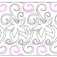 Digital Quilting Design Florist by Lorien Quilting.