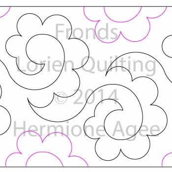 Digital Designs For Longarm Quilting : Fronds Lorien Quilting Digitized Quilting Designs