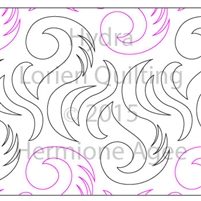 Digital Quilting Design Hydra by Lorien Quilting.