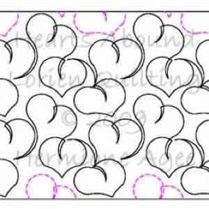 Digital Quilting Design Lorien s Hearts Abound by Lorien Quilting.