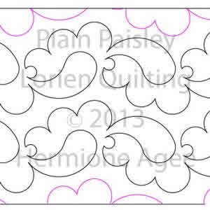 Plain Paisley Lorien Quilting Digitized Quilting Designs