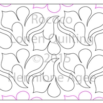 Digital Quilting Design Rococo by Lorien Quilting.