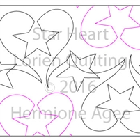 Digital Quilting Design Star Heart by Lorien Quilting.