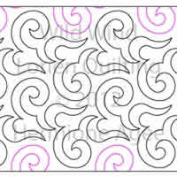Digital Quilting Design Wild Wind by Lorien Quilting.