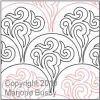 Digital Quilting Design Chocolate Ripple by Marjorie Busby.