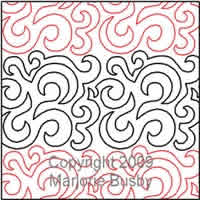 Digital Quilting Design Marjorie's Swirl Background by Marjorie Busby.