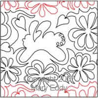Digital Quilting Design Bunny Blossoms by Mary Eddy.