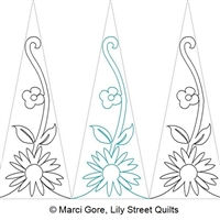 Digital Quilting Design Blossom Triangle Tall by Marci Gore.