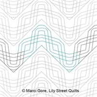 Digital Quilting Design Feather Braid E2E by Marci Gore.