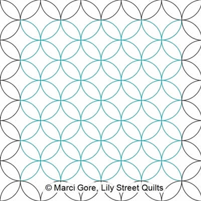 Orange Peel E2E Marci Gore Digitized Quilting Designs