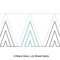Digital Quilting Design Step Triangle Short by Marci Gore.