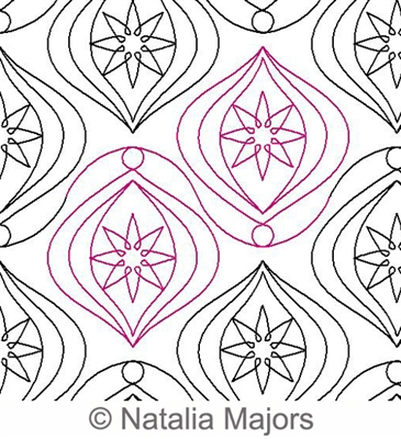 Long Arm Digital Quilting Designs : Christmas Star E2E Digital Quilting Designs