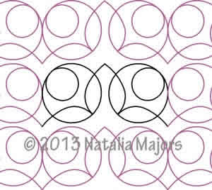 Modern Digital Quilting Patterns : Modern Flowers Geometric Sashing Digital Quilting Designs