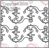 Digital Quilting Design Anchors by Peg Stone.