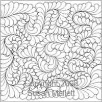 Digital Quilting Design Fancy Feather by Susan Mallett.