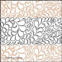 Digital Quilting Design Sue's Pantograph 3 by Sue Patten.