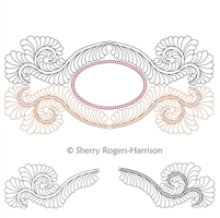 Cameo Feathers Design Emily Anne by Sherry Rogers-Harrison.