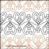 Digital Quilting Design Heart of My Heart 1 by Splendid Stitches.