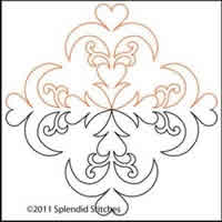 Digital Quilting Design Heart of My Heart 18 by Splendid Stitches.