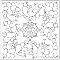 Digital Quilting Design Feathered Square- Sue's Sampler by Sue Schmieden.