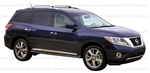 Nissan Pathfinder Painted Side Body Moldings with Black Inserts