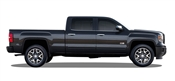 GMC Sierra Painted Side Body Moldings with Black Inserts