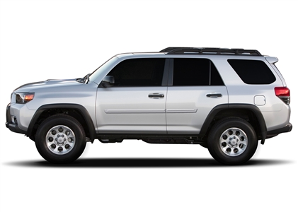 Toyota 4Runner Painted Side Body Moldings with Chrome Inserts