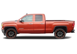 GMC Sierra Painted Side Body Moldings with Chrome Inserts