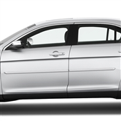 Lincoln MKS Painted Side Body Moldings with Chrome Inserts