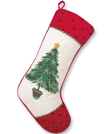 White Christmas Tree Stocking