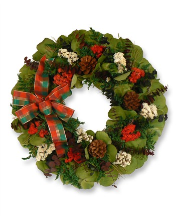 18 Inch Winter Holiday Christmas Wreath